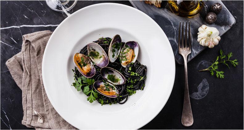 clams on dish