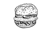 hamburger sketch